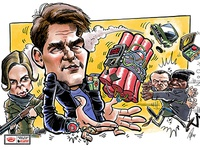 Mission Impossible 6 caricature