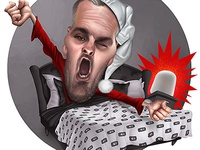 Main logo caricature for client.