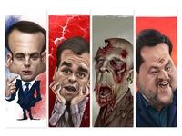 Caricatures for El Jueves Magazine