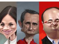 Caricatures for Diari ARA (newspaper)