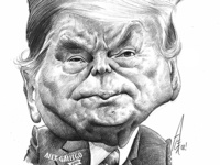 Trump Pencil drawing