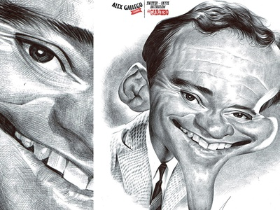 Jack Lemmon ball point pen caricature ballpoint pen ballpoint celebrities cinema character drawing movie celebrity humour portrait caricatures illustration caricature
