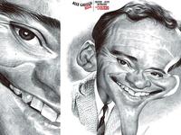 Jack Lemmon ball point pen caricature