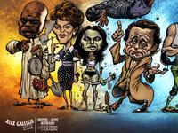 American Dorks caricature poster