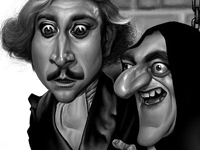 Young Frankenstein Final  caricature movie illustration portrait caricatures celebrities celebrity cinema tv television alex gallego apocalypse young frankenstein fronkonstin hunchback gimp 2.8