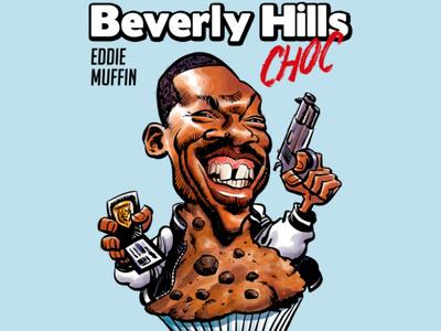 Eddie Muffin parody t-shirt design t-shirt art cartoon portrait illustration caricatures caricature