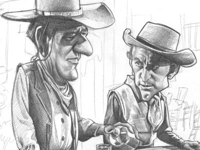 John Wayne and Kirk Douglas