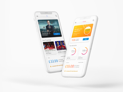 MySky App ux  ui ux interface design ui design application sky