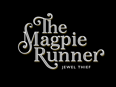 Magpie Runner book cover design book cover typography branding