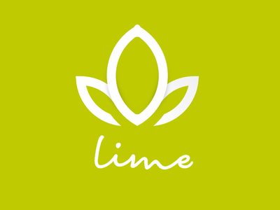 Lime Holistic Therapy Logo branding and identity branding logo