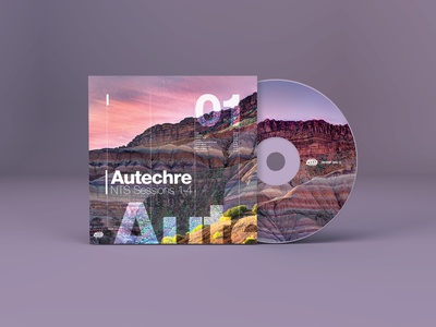 Autechre CD Cover design typography warp music cd cd cover