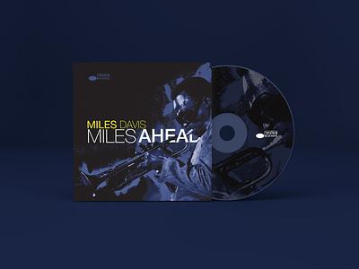 Miles Ahead miles davis helvetica cd cover music typography design