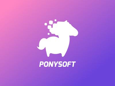 Ponysoft logo Wip