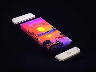Infinity phone iphone screen c4d