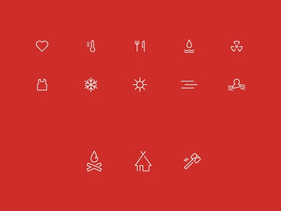 Survival Game icons rust dayz game icons minimal ui inventory