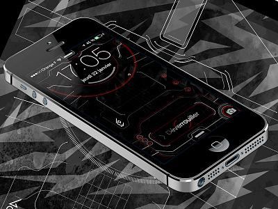 iPhone 5 Techy Lockscreen 2 ai wallpaper lockscreen iphone ui futuristic