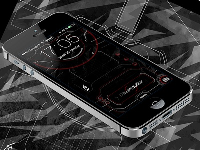 iPhone 5 Techy Lockscreen 2