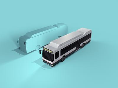 Bus lowpoly c4d transport bus