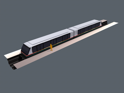 METRO VAL208 lowpoly c4d transport subway