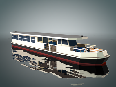 Vapporetto low poly lowpoly c4d transport taxi boat venice venise minimal