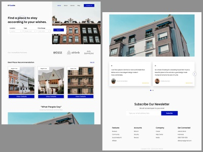 Home Page Boarding House graphic design webdesign branding typography ux ui design clean ui