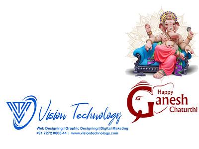 HAPPY GANESH CHATURTHI design illustration web development web design branding logo motion graphics graphic design 3d animation ui