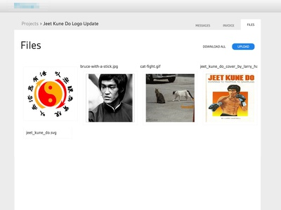 File Manager files thumbnails bruce lee