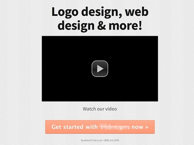 Marketing video squeeze page marketing landing video button