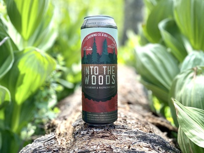 Into the Woods Beer Can Label beverage design beverage minimal beer label beer label design label design can beer packaging design package design naming typography illustration design