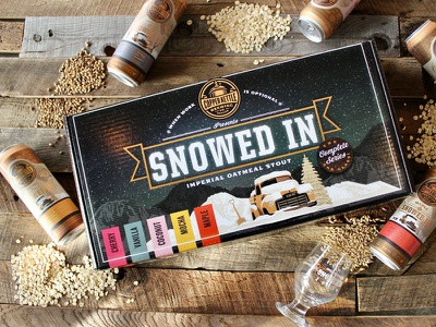 Snowed In Gift Box Beer Set box packaging design box packaging gift box box design typography can package design label design design beverage design beverage beer label design beer label beer