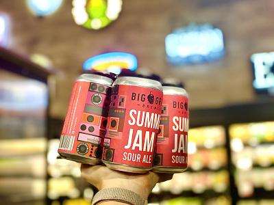 Summer Jam Can Label Design beer can design beer can can design typography beer label design minimal beer label beer package design label design beverage design beverage