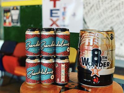 Scandalous Beer Can Label Design beer art beer can design can label design illustration typography design beer label design beer label beer package design label design beverage design beverage