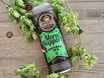 Moral Support Beer Can Label Design typography beer art beer can design can label design beer label design beer label beer package design label design beverage design beverage