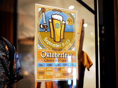 Oktoberfest Event Poster typography branding design event flyer event branding poster art beer art beer bavarian german oktoberfest event poster beverage design beverage