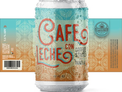 Cafe Con Leche Beer Can Label Design pattern art pattern cuba cuban beer can design can label design beer art beer label design beer label beer package design label design beverage design beverage
