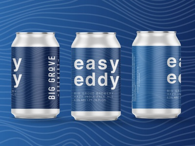 Easy Eddy Beer Can Label Design can label design minimal typography beer label design beer label beer package design label design beverage design beverage