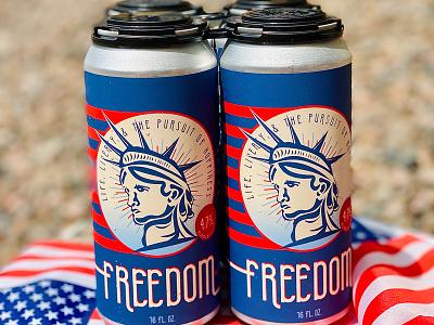 Freedom Kölsch Label Design design illustration beer beer label design beer label package design label design beverage design beverage