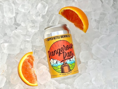 Dangerous Dan Beer Label Design illustration design beer label design beer label beer package design label design beverage design beverage