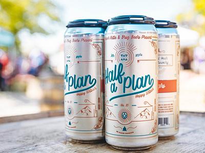 Half A Plan Beer Label Design design illustration beer label design beer label beer package design label design beverage design beverage
