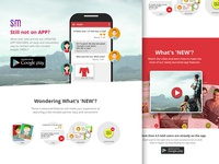 App Landing Page landing page product animation web video scrolling responsive parallax android mobile landing app