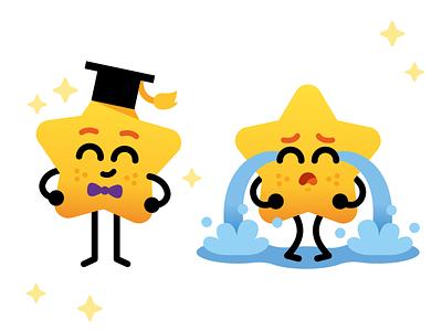 Wordline App - Star Mascot sweet love rainbow friendly graphic emoticon emoji icon vector ux ui cute funny cartoon flat illustration character mascot star