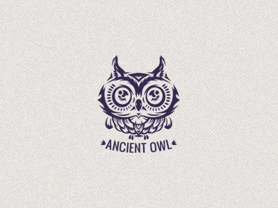Ancient owl dribbble