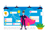 Business Mascot UI UX Bundle money superhero analytics company investment delivery ecology marketing social media ux ui design vector creative character funny cartoon flat mascot illustration