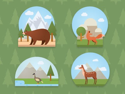 Forest animal dribbble