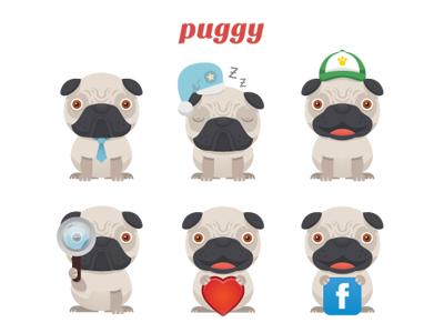 Puggy dribbble