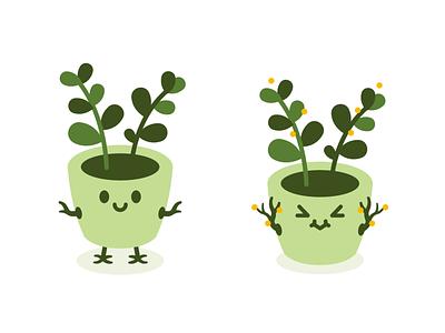 Cute Natural Plant Pot Monster silly logo plant pot kawaii vector art organic nature emoji graphicdesign vector creative cute character funny cartoon mascot flat illustration monster plant