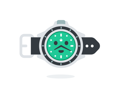Wristwatch Mascot luxury accessory graphic design digital sweet emoticon emoji cute rolex time wrist watch wristwatch funny vector logo character cartoon mascot flat illustration