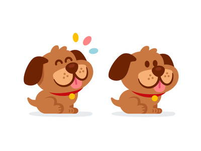 Cute Puppy Mascot silly lovely graphic design puppy colorful friendly animal sticker sweet dog icon vector animal cute funny logo character cartoon mascot flat illustration