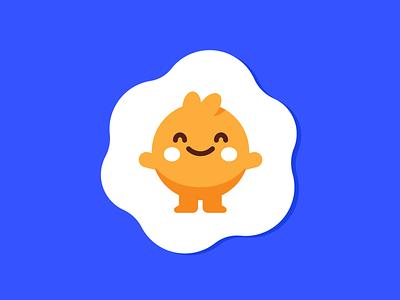 Happy Egg Cute Mascot sweet happy minimal emoticon emoji graphic design illustration vector creative cute logo character funny cartoon flat mascot food kids children egg
