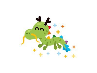 Baby Dragon Logo Mascot emoji creature monster graphic design vector design silly sweet colorful cute fantasy magic dragon logo character funny cartoon mascot flat illustration